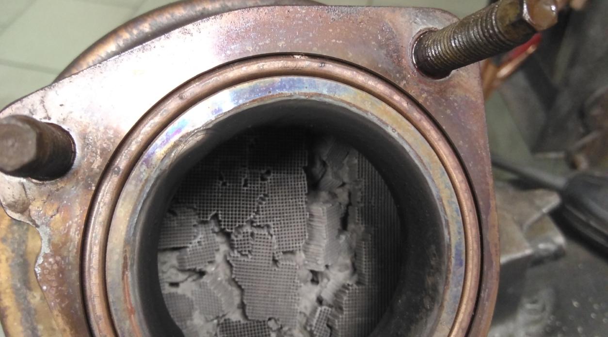 Отключение и удаление катализатора